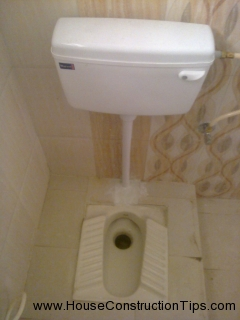 Fixing flush for indian latrine