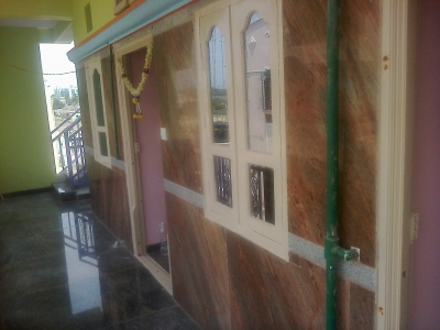 Granite cladding for wall
