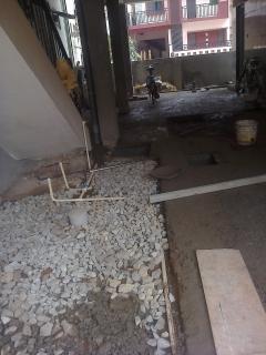 Concreting ground floor parking