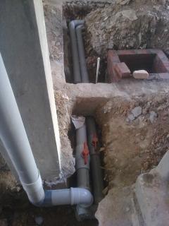 Plumbing lines in ground floor 1