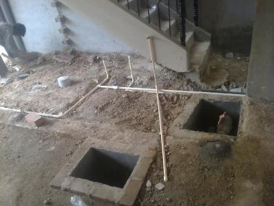 Plumbing lines in ground floor 4