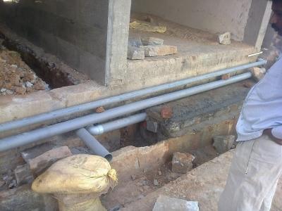 Plumbing lines in ground floor 5