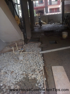 Concreting ground floor parking