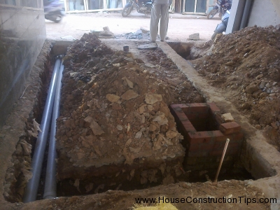 Plumbing lines in Ground floor 2