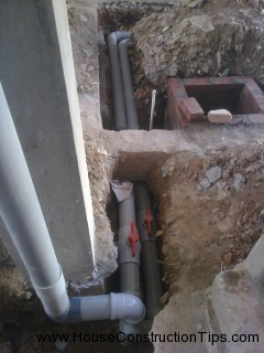 Plumbing lines in ground floor 1