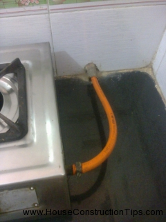 Gas pipe hole