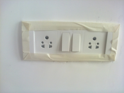Preparation of switches before painting