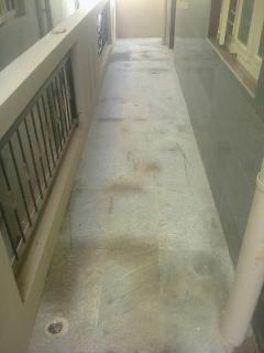 Rough granite tiles for passage