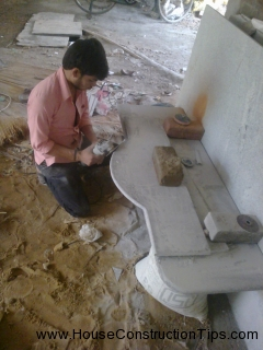 Puja room granite  nouring