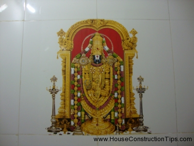 Lordvenkateswarapicture Tile Puja Room Door Frame Designs