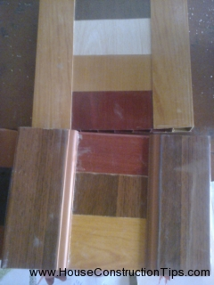 Different colors in plastick doors