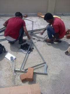 Solar water heater fixing 1