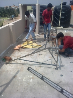 Solar water heater fixing 3