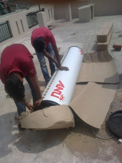 Solar water heater fixing 4