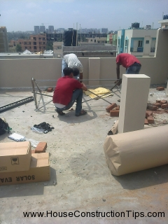 Solar water heater fixing 2