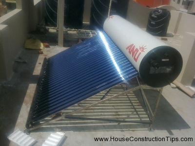 Solar water heater fixing 7