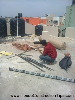 Solar water heater fixing