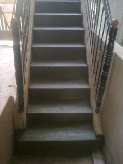 Steps finished with cement