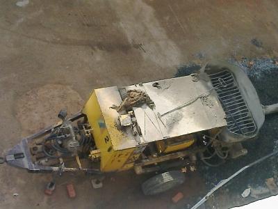 Concrete pushing machine