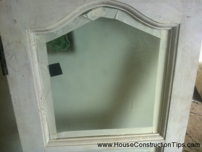 Before painting preparation of window